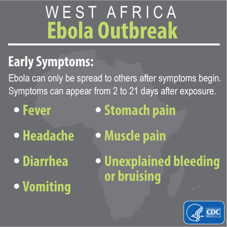 Ebola outbreak infographic