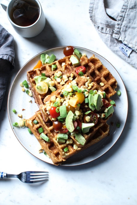 Avocado recipes that don't involve toast: savory corn and cheddar waffles