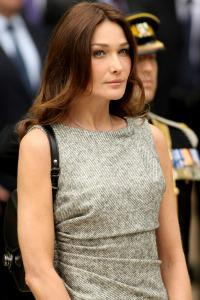Carla Bruni-Sarkozy steps out with newborn