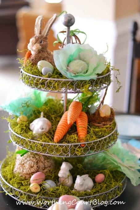 Peter Rabbit Easter centerpiece
