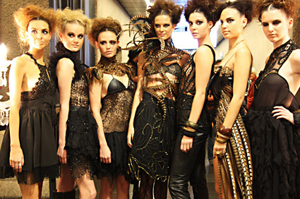 models wearing eco fashion outfits