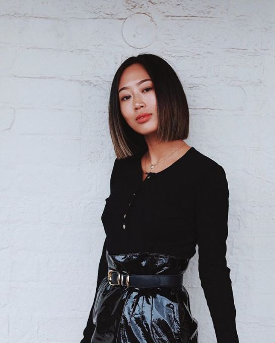 Model-Approved Hairstyle Ideas to Copy This Summer: Aimee Song's sleek bob   Summer Hair