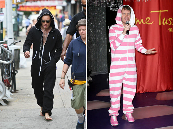 4d28feae97 Ed Westwick and Perez Hilton wearing onesies
