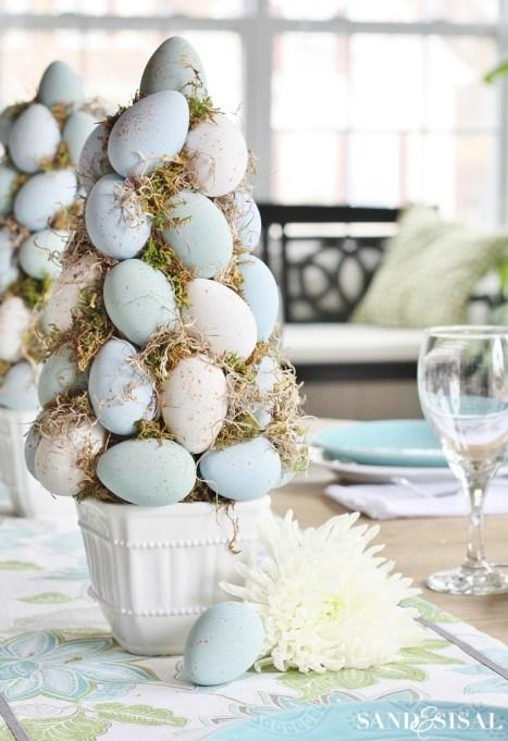 classic pastel egg tree centerpiece