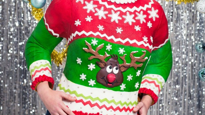 Edible Christmas jumper puts our homemade