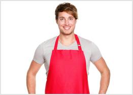 A man's apron