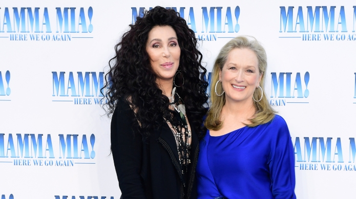 Meryl Streep, Cher at the 'Mama