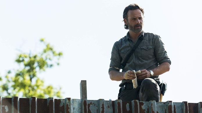 Still of Andrew Lincoln alone in