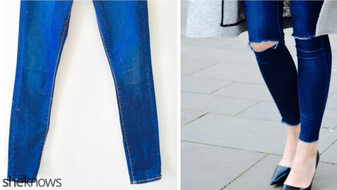 How to fray your jeans in