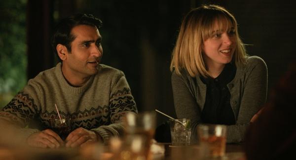 Still of Zoe Kazan and Kumail Nanjiani in 'The Big Sick'