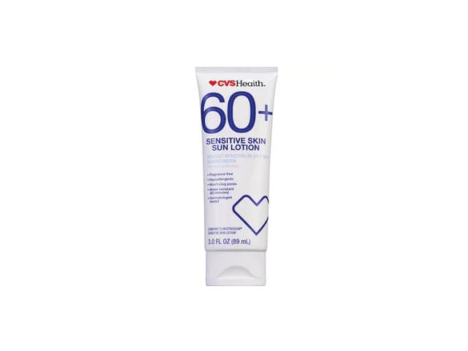 CVS Health sun lotion, SPF 60