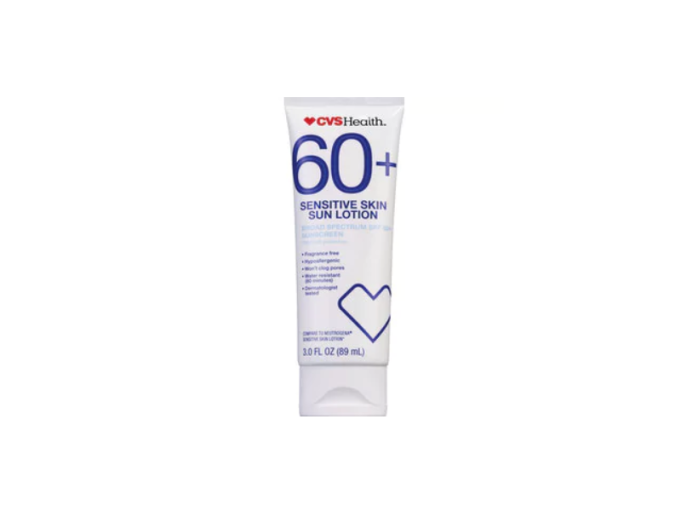CVS Health sun lotion, SPF 60