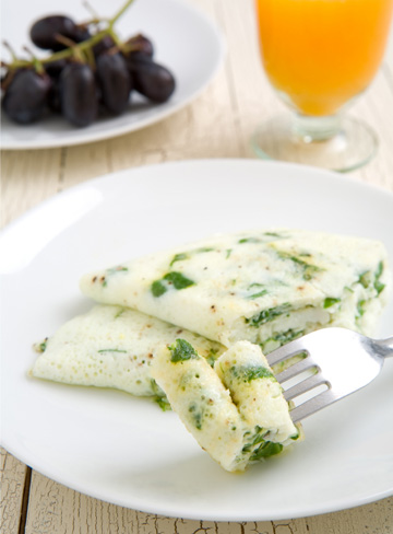 Egg white and spinach omelet