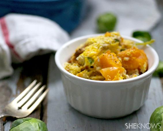 Vegetable & omelet casserole