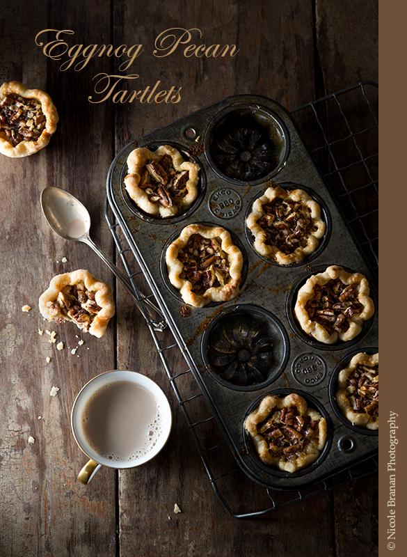 Eggnog pecan tartlets