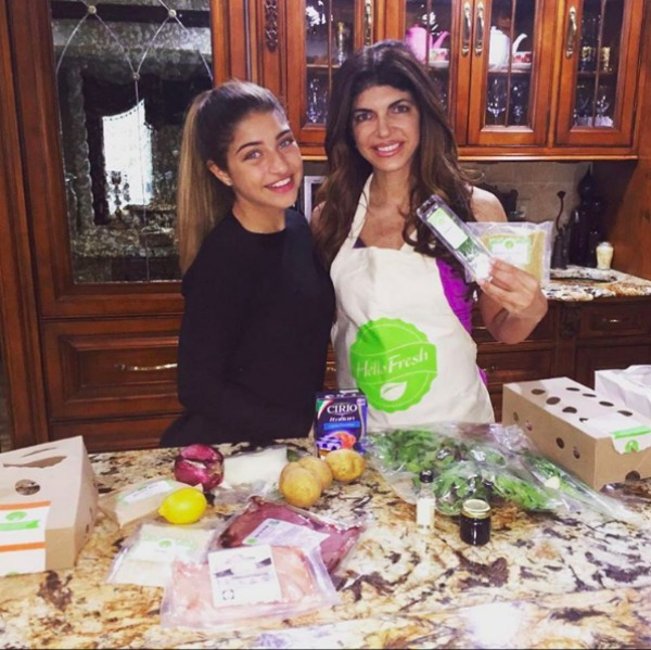 Teresa Giudice cooking with her daughter