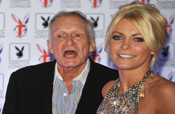 Hugh Hefner and Crystal Harris' doggone