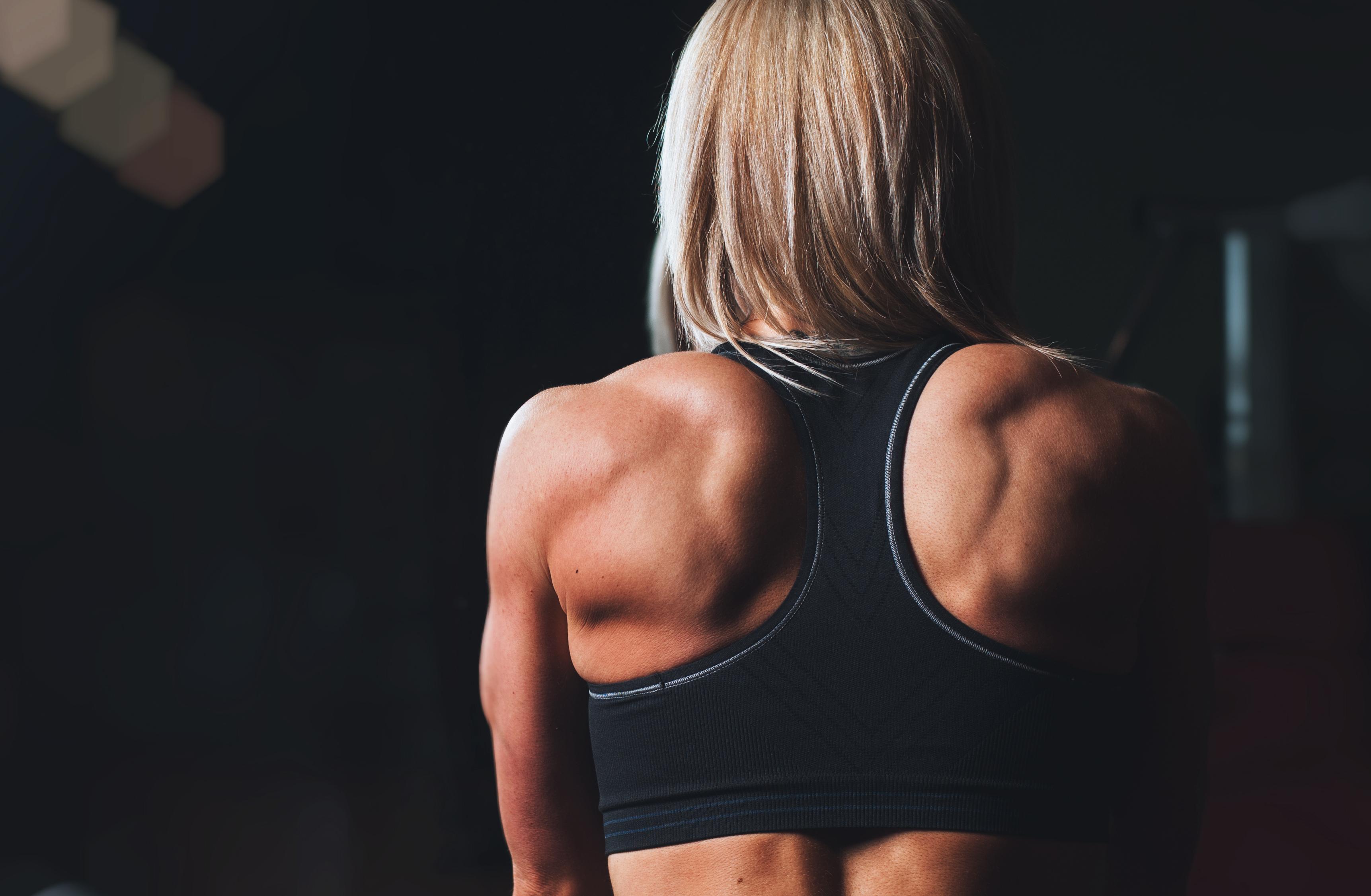 Image result for women body builder back