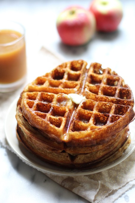Fall brunch recipes: apple cider waffles