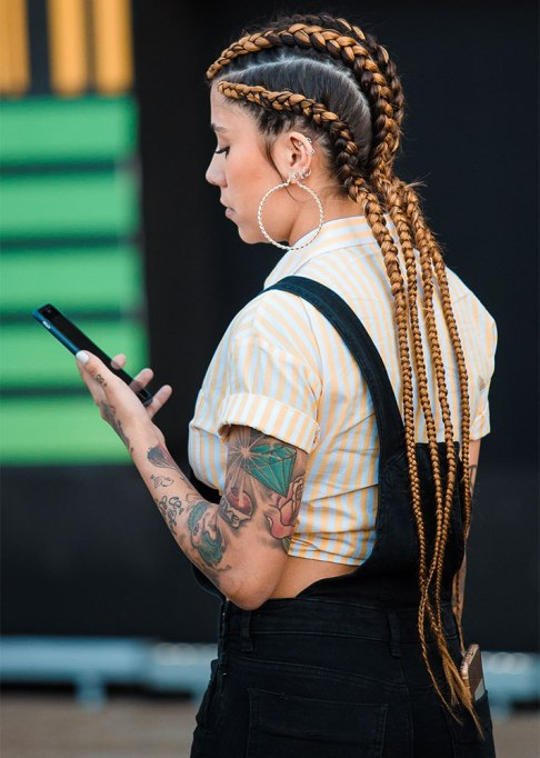 Standout Ways To Style Long Hair | Bright Cornrows