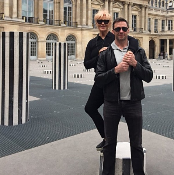 Deborra-lee Furness & Hugh Jackman in Paris
