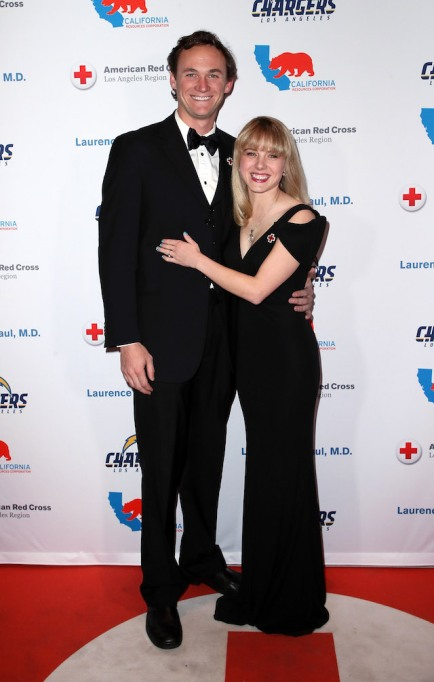 Laura Slade Wiggins and Kyle Weishaar attend the American Red Cross Annual Humanitarian Celebration to honor the Los Angeles Chargers