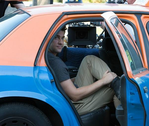 John Krasinski filming 'The Hollars'