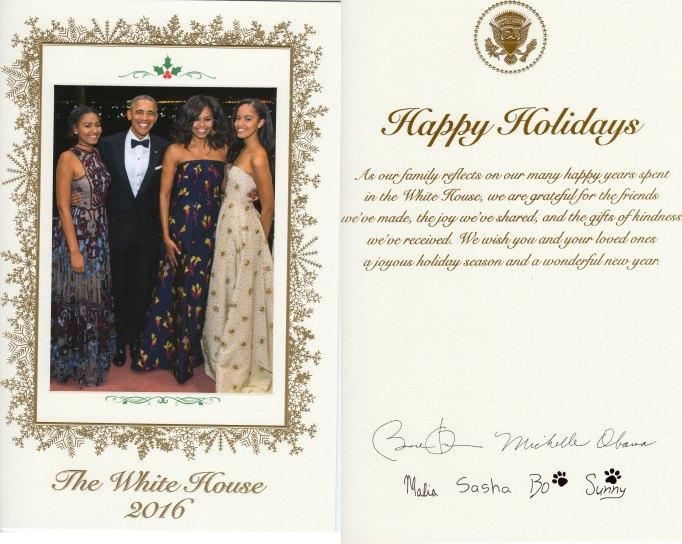 The Obama Christmas card 2016