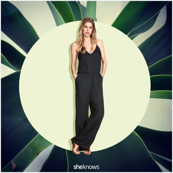 Casual black jumpsuit for summer