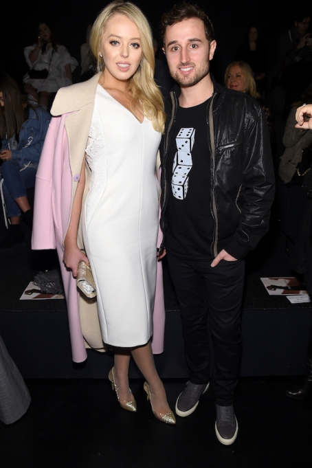 Tiffany Trump & Ross Mechanic at the Taoray Wang collection show for NYFW 2017