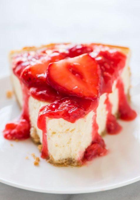 Recipe swaps to help your partner eat healthier | Greek yogurt cheesecake