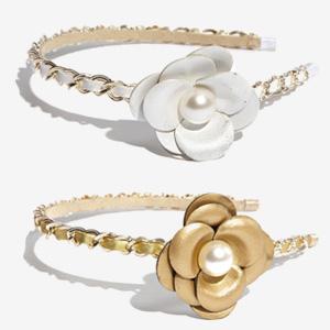 elegant leather flower headband