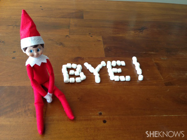 Elf with marshmallows