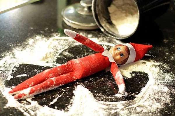 Elf on the Shelf - Snow play