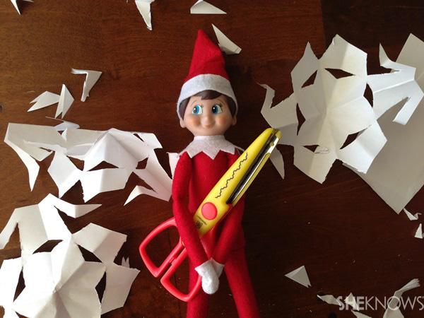 elf with snowflakes