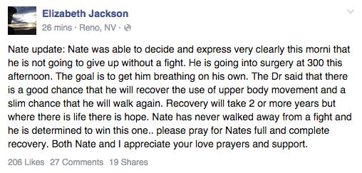 Elizabeth Jackson provides new update to fans