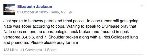 Elizabeth Jackson facebook update