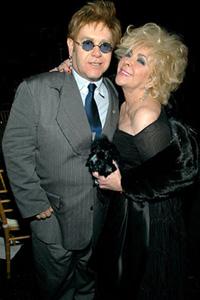 Elizabeth Taylor and Elton John