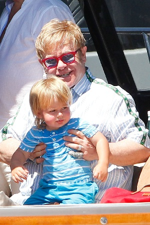 Elton John (and his first son, Zachary) welcome new baby, Elijah