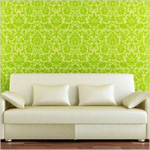 Green embelished walls