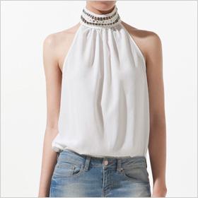 Braided Collar Top