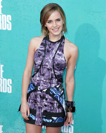 Emily Watson funky print outfit