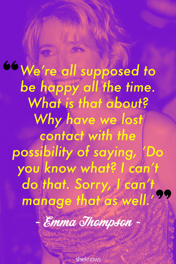 Emma Thompson quote about happiness