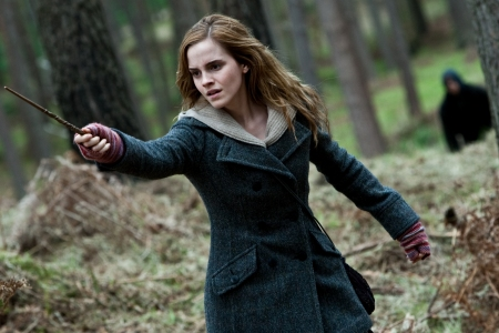 Emma Watson in action in Harry Potter and the Deathly Hallows