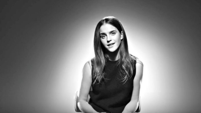 Emma Watson talks to designers about