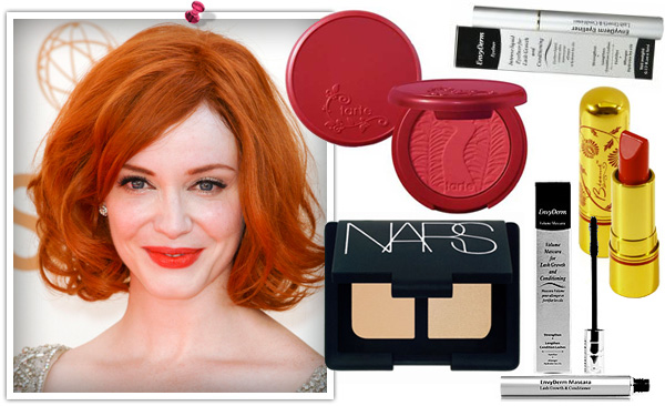 Christina Hendricks Emmy 2011 makeup look