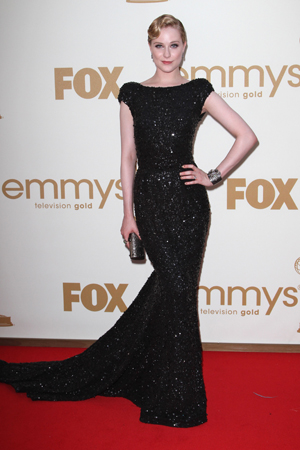 Evan Rachel Wood at the 2011 Emmys