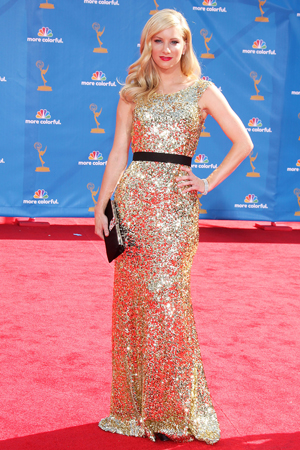Heather Morris at the 2010 Emmy Awards
