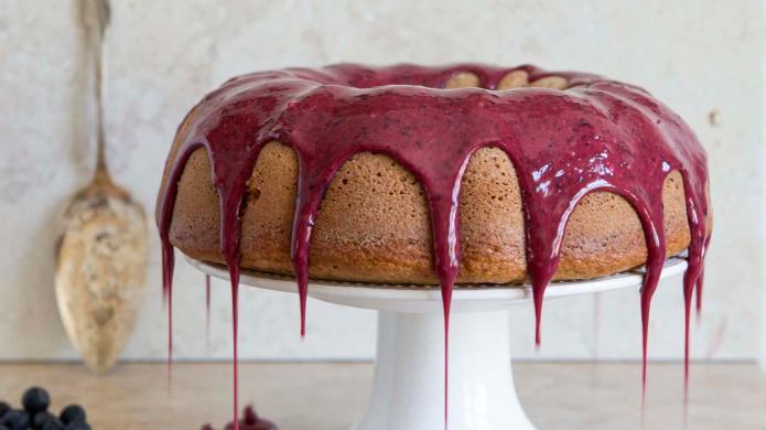 Seriously delicious whole-wheat blueberry Bundt cake