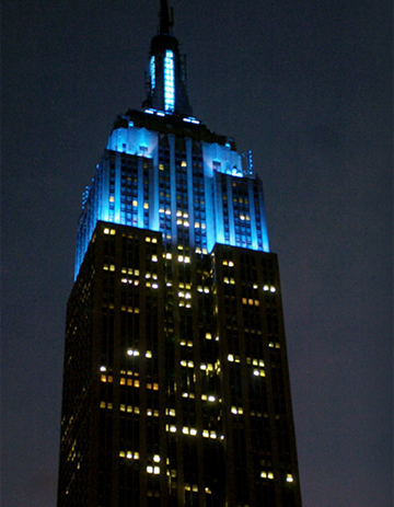 Empire State Building - Light It Up Blue